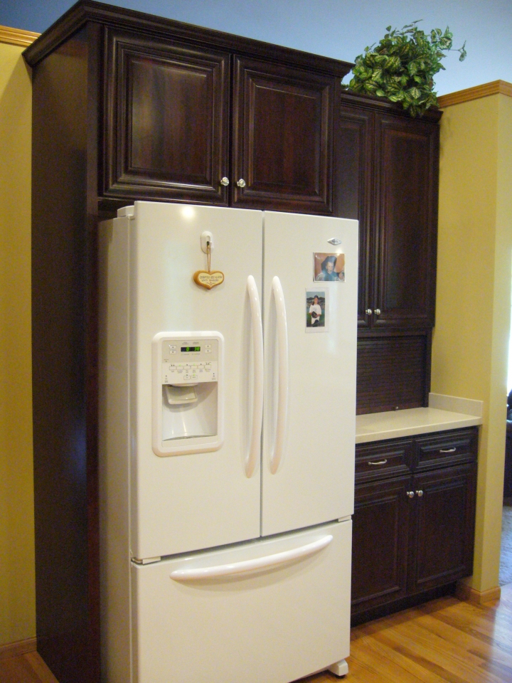 Garage Fridge: Refrigerator-cabinet-and-appliance-garage